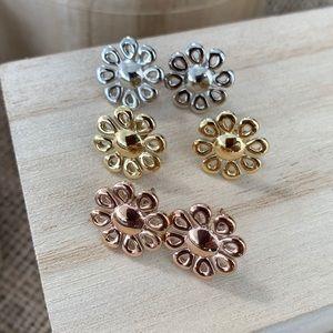 Jewelry - Daisy Flower Stainless Steel Stud Earrings